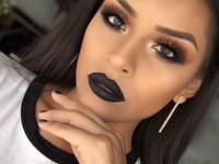 Черный макияж глаз — модные идеи как сделать современный эффектный черный макияж глаз. 120 фото красивых сочетаний