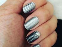 Маникюр с серебром — новинки оформления ногтей, идеи дизайна и варианты применения серебряного лака (125 фото)