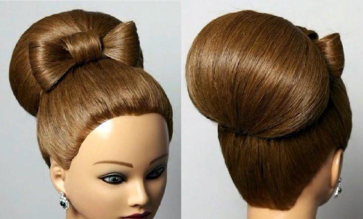 Как делать бабетту на длинные волосы