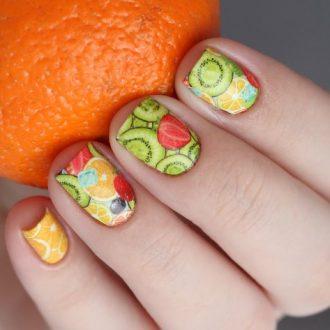 Маникюр на лето: идеи и новинки для летнего маникюра. Французский маникюр, с цветочками, фруктами, вкусняшками. 90 фото яркого, неординарного, неонового маникюра