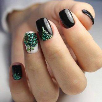 Маникюр на новый год: модные и красивые идеи оформления ногтей на новогодний вечер (110 фото и видео)