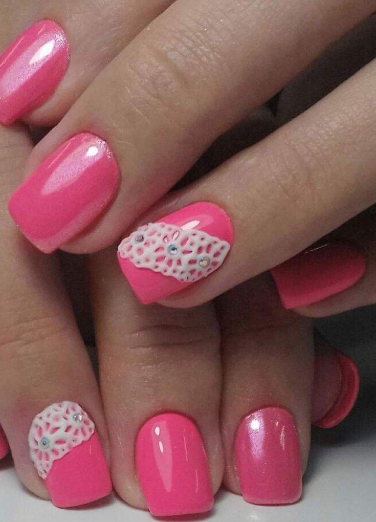красивый розовый шеллак на ногтях фото нужно