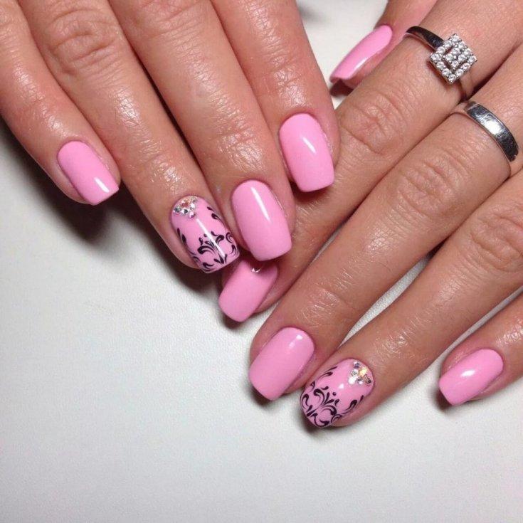 Красивый розовый маникюр: ТОП-150 фото лучших новинок и эксклюзивного дизайна маникюра розового цвета